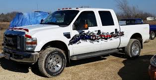 American Flag Tear Graphics Truck On A Ford F350 | Xtreme Digital ...