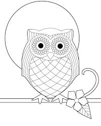 Fancy Ideas Coloring Pages Draw An Owl Free Printable For Kids With