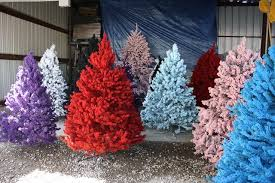 ND Please Give Us Colorful Flocked Christmas Trees For The Holidays