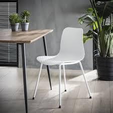 maia esszimmerstuhl kunststoff weiß gratis versand
