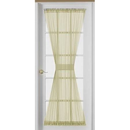 HCI Emelia Sheer Ecru Door Panel 63 inch Long, Beige