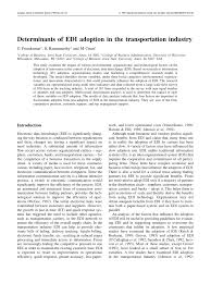 PDF) Determinants Of EDI Adoption In The... Pauls Transport Trucking Technology Edi Transportation Pdf Determinants Of Adoption In The Partners Tmw Systems Transnet Port Terminals Copino Case Study Ect Terminal My Notes Doing Business With Fortune 500 Companies Become Compliant To Api The Future Supply Chain Management Dgd 84 Best Virtual Logistics Images On Pinterest Digital Marketing E Beyond Part 2 Trustless Freight Traactions Resume_english_pdf