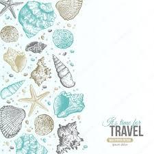 100 Sea Shell Design Summer S Postcard Stock Vector Kotoffei 79710850