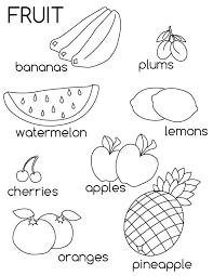 Cute Fruit Coloring Pages Fruits And Vegetables Page To Print Out For Free