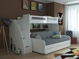 Twin Bunk Bed with Sofa Table and Trundle Bel Mondo