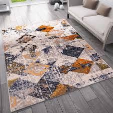 teppich vintage look designer kurzflor teppich läufer kupfer vimoda homestyle
