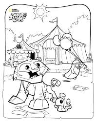 Summer Carnival Coloring Page Animal Jam