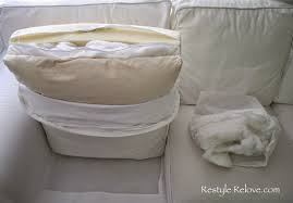 how to restuff ikea ektorp sofa cushions cheap easy and quick