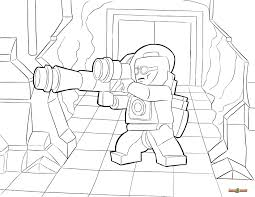 LEGO Mr Freeze Coloring Page Printable Sheet