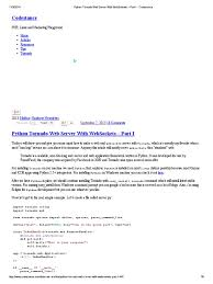 Python Decorators Simple Example by Python Tornado Web Server With Websockets U2013 Part I Codestance
