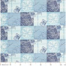 badematte badvorleger badteppich maritim blau 65cm