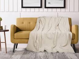 decke fernie baumwolle 230 x 250 cm beige