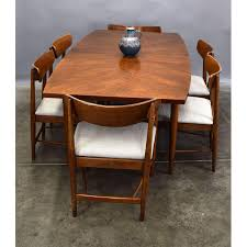 american of martinsville dania walnut dining table with leaves