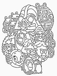 Angry Bird Star Wars Coloring Page Cool Birds 2 Pages Image