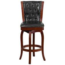 Amazon.com: Flash Furniture 30'' High Cherry Wood Barstool With ...