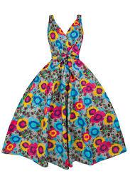 Vintage Clothing Clipart New Ladies 1950s Retro Floral Cotton Clip Art Daisy Swing