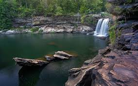 Waterfall And Swimming Hole In Little River Canyon AL