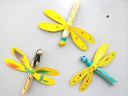 Easy Kids Craft Clothespin Dragonfly Magnet