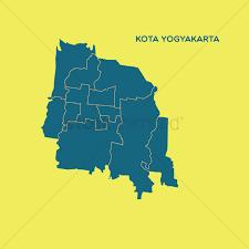 Map Of Kota Yogyakarta Vector Graphic