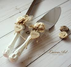 Cake Server Set Knife Rustic Wedding Cutting Servers Cutter Decoration