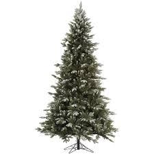Vickerman Frosted Balsam Fir Artificial Unlit Christmas Tree