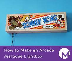 How to Make an Arcade Marquee Lightbox 10 Steps with