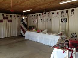 Graduation Decorations 2015 Diy by Graduation Party Curtain Draping In Garage Grad Party