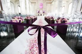 Purple Wedding Ceremony With Ribbon