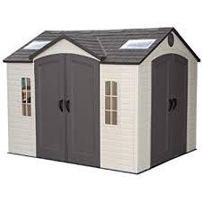 amazon com lifetime 15x8 dual entry shed storage sheds