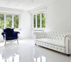 Plain White Floor Tiles Ideas Design Modern Cool