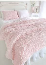 White And Pastel Pink Bed Spread
