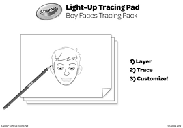 Boy Faces Tracing Pack Coloring Page