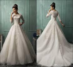 Discount Amelia Sposa Vintage Lace Wedding Dresses Long