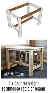 Ana White | Counter Height Farmhouse Table For Four - DIY Projects ... Farmhouse Wooden Table Reclaimed Wood And Chairs Plans Round Coffee Height Cushions Bench Kitchen Room Rooms High Width Standard Depth 31 Awesome Ding Odworking Plans Ideas Diy Outdoor Free Crished Bliss Rogue Engineer Counter Farmhouse Ding Room Table Seats 12 With Farm With Dinner Leaf Style And Elegance Long Excellent Picture Of Small Decoration Ideas Diy Square 247iloveshoppginfo Old