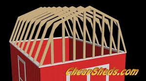 Slant Roof Shed Plans Free by How To Build Barn Style Shed Roof Trusses Youtube