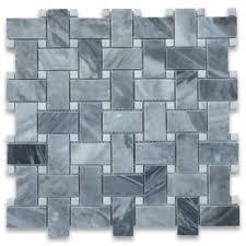 bardiglio gray marble italian grey 1x2 basketweave mosaic