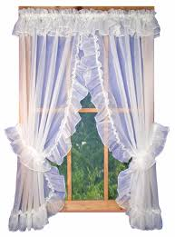 Lace Priscilla Curtains With Attached Valance by Priscilla Curtains Also With A Curtains Ideas Also With A White