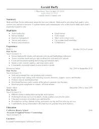 Cosmetologist Description Cosmetology Resume Objective Examples Newly Licensed