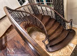 Woodworking by Curved Staircase Stair Gallery U2014 Nk Woodworking U0026 Design