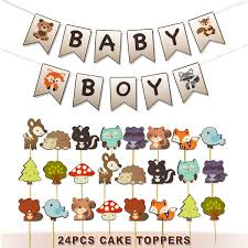 Amazoncom Woodland Baby Shower Decorations Baby Boy Banner