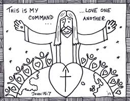 Bible LoveOneAnother ColorbyN Cool Love One Another Coloring Pages