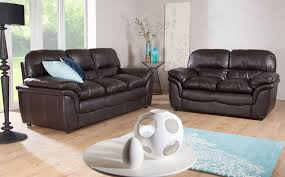 Stunning Dark Brown Leather Sofa Set New In Apartement Collection