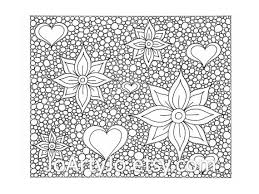 Zentangle Inspired Printable Coloring Page Hearts And Flowers Zendoodle 45