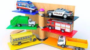 100 Garbage Truck Youtube Kids Vehicles Parking Police Car School Bus Cartoon