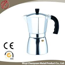 Old Style Italian Coffee Maker Aluminum Espresso Machine Parts With Function