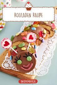 süße und bunte rouladen raupe rezept kuchen und torten
