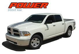 100 Ram Trucks 2013 POWER 20092018 Dodge Strobe Hood Truck Bed Stripe Decal Vinyl Graphics Kit