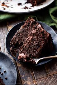 Super rich and fudgy chocolate cake with chocolate chip and chocolate fudge frosting The best