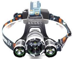 Head Lamp by Hunting Ultra Bright White Cree Rechargeable Led Headlamp