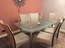 Glass Dining Table And Chairs From Harveys